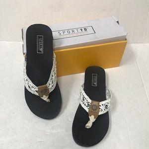 Yellow Box White Quinn Sandals